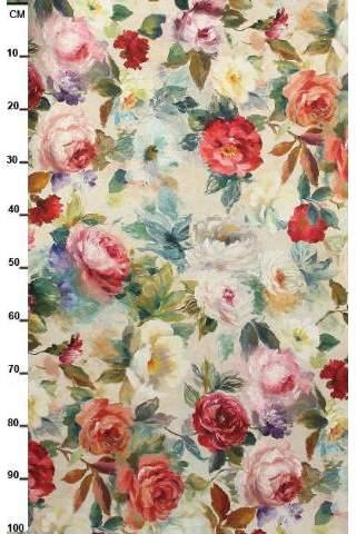 Rozen rood roze Monet bloemen