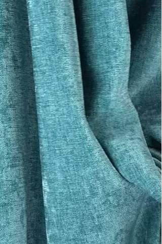 Chenille velours linnen turquoise groen