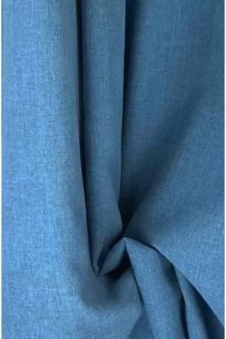 Drape blauw - lichte velours look