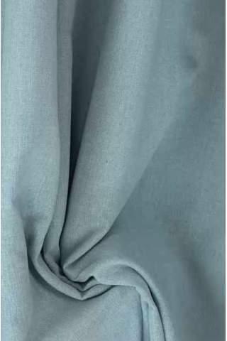 Drape ijsblauw - lichtgrijs - lichte velours look
