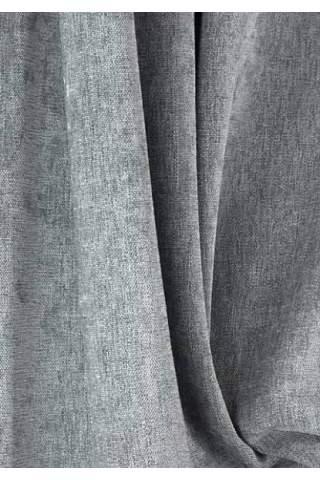 Chenille velours linnen grijs