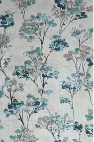 Bloesem bloemen ijsblauw turquoise linnen