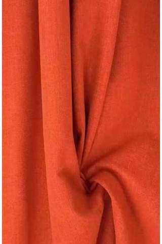 Drape oranje - rood - lichte velours look