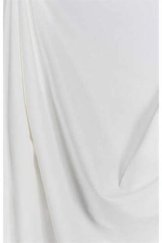 Drape off white - lichte velours look