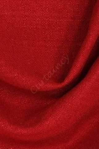Zenith mooi rood - Velours linnen look