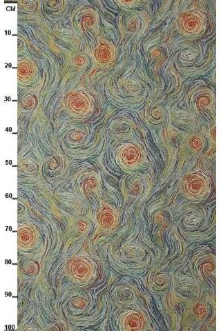 Gobelin, van Gogh wolken groen
