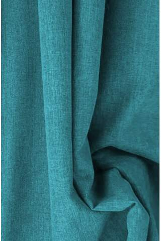 Drape turquoise - lichte velours look