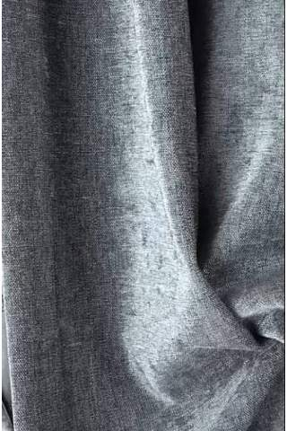 Chenille velours linnen antraciet lichtgrijs