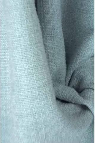 Zenith ijsblauw lichtgrijs - Velours linnen look