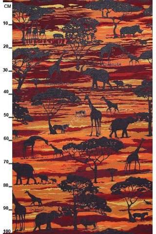 Gobelin Afrika savanne