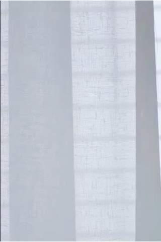 Vitrage, voile linnen look off white