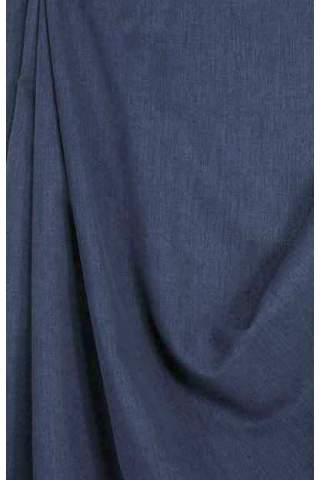 Drape donkerblauw - lichte velours look
