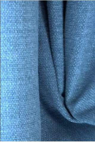 Zenith blauw - Velours linnen look