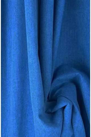 Drape kobalt blauw - lichte velours look
