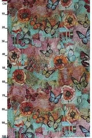 Gobelin, Vlinders turquoise