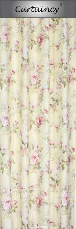 Gordijnen, gordijnstof Engelse roos vanille | Design | Curtaincy